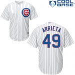Jake Arrietta Youth Jersey – Chicago Cubs Replica Kids Home Jersey