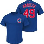 Jake Arrietta T-Shirt – Blue Chicago Cubs Adult T-Shirt