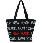 Robin-Ruth NY Black-White-Red Small Tote Bag