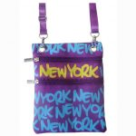 Purple New York Neck Wallet