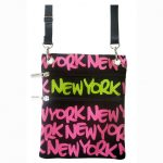 Neon Pink New York Neck Wallet
