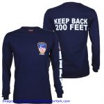 FDNY Patch and Sleeve Navy LS Tee