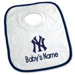NY Yankees Personalized Pullover Baby Bib