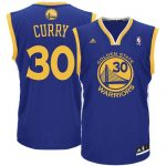 Golden State Warriors Stephen Curry Adult Replica Road Jersey