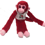 I Love NY Red Plush Screaming Monkey with Sparkly Eyes