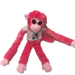 I Love NY Pink Plush Screaming Monkey with Sparkly Eyes