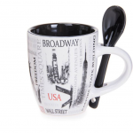Popular Sites NYC 6 oz. Mug- Black
