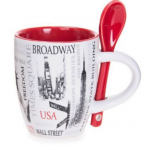 Popular Sites NYC 6 0z. Mug- Red
