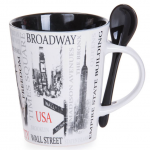 Popular Sites NYC 13oz. Mug- Black