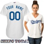 LA Dodgers Replica Personalized Ladies Home Jersey