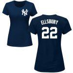 Jacoby Ellsbury Ladies T-Shirt – Navy NY Yankees Womens T-Shirt