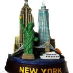 NYC Landmarks 4 Inch Color Skyline Model