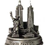 NYC Landmarks 4 Inch Pewter Skyline Model