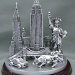 NYC Icons 4 Inch Pewter Skyline Model