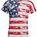 American Flag Distressed Full Body T-Shirt