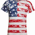 American Flag Distressed Full Body T-Shirt