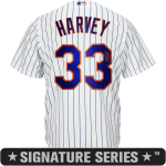 Matt Harvey Signature Series Jersey – NY Mets Replica Adult Home Jersey