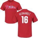 Cesar Hernandez T-Shirt – Red Philadelphia Phillies Adult T-Shirt