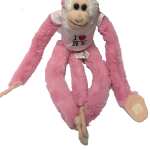 I Love NY Pink Plush Screaming Monkey