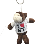 I Love NY Monkey Plush Key Chain