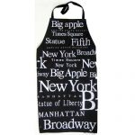 NYC White Letters Apron