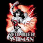 Wonder Woman Deflect Black Kids T-Shirt