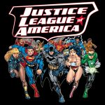 Justice League Of America Black Youth T-Shirt