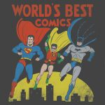 World's Best Comics Charcoal Kids T-Shirt
