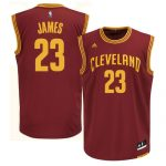 Cleveland Cavaliers LeBron James Adult Replica Road Jersey