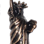 Copper Metal Statue of Liberty Key Chain