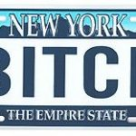 Bitch NY License Plate