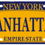 Manhattan NY License Plate