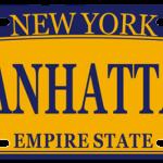 Manhattan NY License Plate