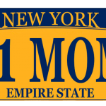#1 Mom NY License Plate