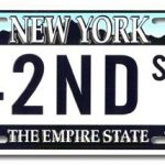 42nd St NY License Plate