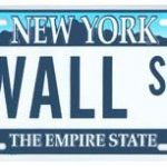 Wall St NY License Plate