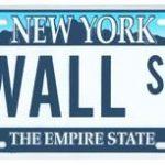 Wall St NY License Plate