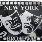 Broadway Masks Black License Plate