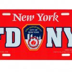 FDNY License Plate – Red