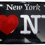 I Love NY License Plate – Black