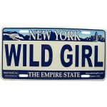 Wild Girl NY License Plate