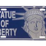Statue Of Liberty Face License Plate