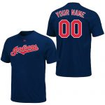 Cleveland Indians Personalized Navy Adult T-Shirt