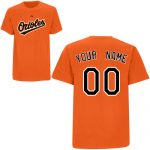 Baltimore Orioles Personalized Orange Adult T-Shirt