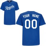 Kansas City Royals Personalized Royal Blue Adult T-Shirt
