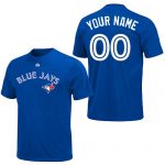 Toronto Blue Jays Personalized Royal Blue Adult T-Shirt