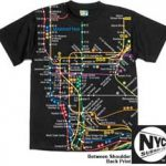 NYC Subway Map Black Kids Tee