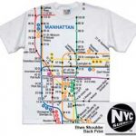 NYC Subway Map White Mens Tee