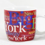 NYC Hotspots Porcelain 12 oz Mug – Red