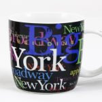 NYC Hotspots Porcelain 12 oz Mug – Black